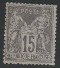 """FRANCE STAMP TIMBRE N° 77 """" TYPE SAGE 15c GRIS TYPE II """" NEUF xx A VOIR"""