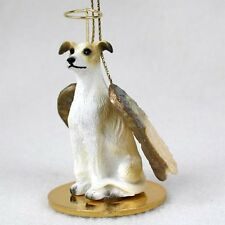 GREYHOUND Tan Hound Dog ANGEL Tiny One Ornament Figurine Statue