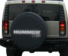 2002+ Hummer H2 Black Non-Reflective Spare Tire Cover Soft GM New Free Shipping
