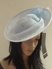 Nigel Rayment POWDER BLUE FASCINATOR DISC Wedding Occasion Formal Hat SALE RACES