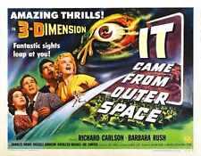 Il est venu de l'espace 1953 Poster 07 métal signe A4 12x8 aluminium