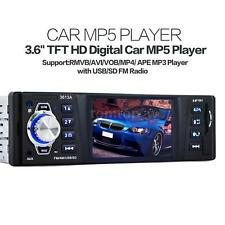 "3.6"" TFT Car Stereo Radio Audio Player Receiver FM Aux In SD USB MP3 Universal"
