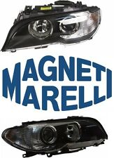 BMW E46 Set Of 2 Headlight Assembly With White Turn Indicators Magneti Marelli