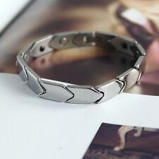 Arrow Stainless Steel Mens Magnetic Magnet Bracelet Bangle Link Chain 0.39""