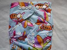 New Butterly Cloth Diaper Cover Double Gusset FlipThirstieBummis PUL EB2232