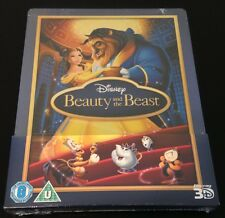 Disney BEAUTY and THE BEAST 3D & 2D Blu-Ray SteelBook UK. Region Free. New Rare!