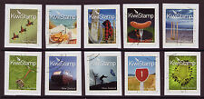NEW ZEALAND 2009 KIWI STAMPS SET OF 10 FINE USED PERF 9.75 x 10 ON PIECE