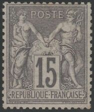 """FRANCE STAMP TIMBRE N° 77 """" TYPE SAGE 15c GRIS TYPE II """" NEUF xx TB  A VOIR K413"""