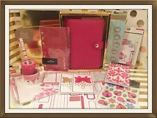 Kikki K Red Leather Medium Size Planner | New, Complete | Lots of Extras!