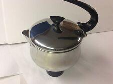 Vintage Farberware 2 Quart Stainless Steel Tea Pot Kettle Model 762