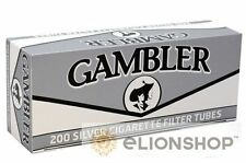 5x Boxes 1000 Count ( Gambler King Size Silver Ultra ) Filtered Cigarette Tubes