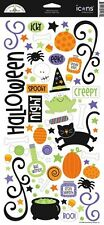 Doodlebug Design HOCUS POCUS HALLOWEEN Glitter Icon Stickers Scrapbooking