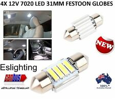 4x CAR 12V LED 31MM FESTOON INTERIOR WHITE LIGHT BULB 7020 4 LED AUTO DOME GLOBE
