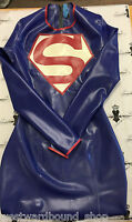X0112 Rubber Latex SUPERGIRL Cosplay Dress Fetish  ALL SIZES Westward Bound