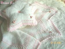 """STAR Shawl & Matching Pillow"" for Baby or Display. (Crochet Instructions.) #14"