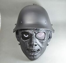 Black Airsoft Paintball ABS Full Face WAR II Zombie Mask Simple practical