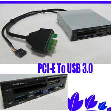 "3.5"" Front Panel PCI-E To USB 3.0 4 Port Hub Combo+2.0 Card Reader 4 Port For XP"