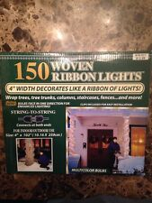 "150 WOVEN RIBBON LIGHTS 4"" WIDTH DECORATED LIKE A RIBBON OF LIGHTS"