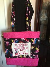 Nurse Medical Handmade Tote Bags /Minnie Mouse/Pink Panther Print