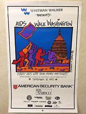 Original Poster for AIDS WALK Washington, DC - Sept. 18, 1993