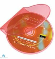 1 Clear Pink Clam Shell Plastic High Quality Single Case CD DVD Disk Storage