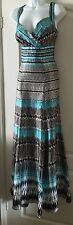 "BNWT ""MONSOON""PURE SILK GEOMETRIC PRINT MAXI DRESS SIZE 14❤️£135!"
