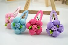 ONE Pink Girl baby flower boutique Hair clips Accessories Kids Hairpin++++++++++