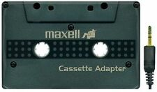 Maxell Car Stereo Cassette Adapter For Auto  Black New Package