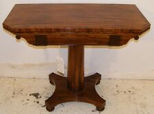 GOOD QUALITY ANTIQUE 19TH CENTURY MAHOGANY CARD TABLE WITH BAIZE LINING