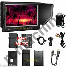 """Lilliput 7"""" 664/O HDMI In Out Monitor Canon 5D2 5D3 III+6600mAh battery+Charger"""