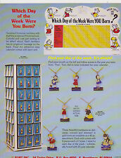 VINTAGE AD SHEET #2346 - 1970s FORT INC WHICH DAY OF THE WEEK NECKLACES