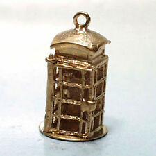 14k gold vintage LONDON TELEPHONE BOOTH charm England