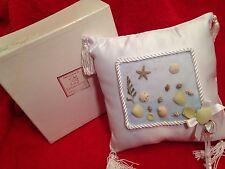 Lillian Rose Ring Bearer Wedding Pillow Beach Theme Shells White