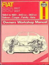 FIAT 850,COUPE,SALOON,SPIDER,FAMILY,850T,900T VAN HAYNES MANUAL 1964-1981