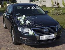 Mariage voiture décoration, ruban, arcs, prom limine décoration, ivoire twist