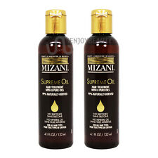 "Mizani Supreme Oil Hair Treatment 4.1 oz ""Pack of 2"" with Free Roll-on Body Oil"