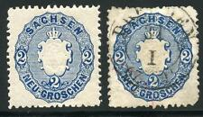 GERMANY STATES SAXONY SCOTT# 18a MICHEL# 17b 1 HINGED 1 USED AS SHOWN