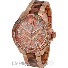 *NEW* MICHAEL KORS LADIES WREN TORTOISE ROSE GOLD WATCH - MK6159 - RRP £299