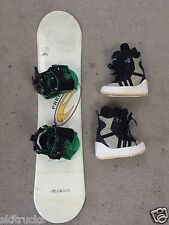 KIDS  Snowboard Package,Used Elan 105cm,New Burton Bindings Used Boots-Fitted