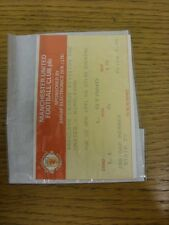 02/04/1991 Ticket: Manchester United v Wimbledon . Thanks for viewing this item,