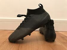 Adidas Ace V1 Primeknit Football Boots Size 8.5 *Sample Prototype Blackout RARE*