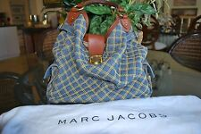 Mark Jacobs Denim Quilted Anna Hobo Authentic & Rare BEAUTIFUL!
