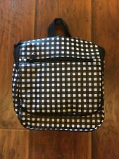 Bloomingdales Toiletry Bag Cosmetic Black/white checked Makeup Hanging Grooming