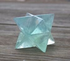 NATURAL GREEN FLUORITE GEMSTONE MERKABA STAR (ONE) - BUY IT NOW