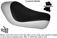 BLACK & WHITE CUSTOM FITS HARLEY SPORTSTER LOW IRON 883 SOLO SEAT COVER
