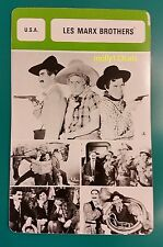 US Comedy Trio The Marx Brothers Chico Harpo Groucho French Film Trade Card