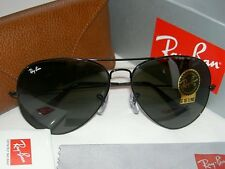New RAY BAN Sunglasses AVIATOR  Large Metal II  Black Frame  RB 3026 L2821  62mm