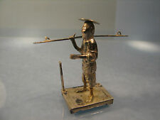 Chinese miniature silver figure card place holder or menu holder
