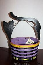 Longaberger Halloween Cat Basket in Purple & Black Stripe #S1311794 NEW
