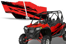 AMR Racing 4 Door Graphic Decal Kit OEM Polaris RZR-S 800/900/XP Part RED S